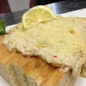 Cheesy Crab Bread